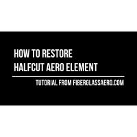Car aero elements cut in half - how to make them whole again