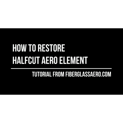 We ship most of the aero elements cut in half