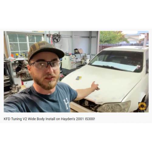 "Video by Central Coast Garage - ""KFDoriginals TYPE2 Wide Body Install on Hayden's 2001 IS300"""
